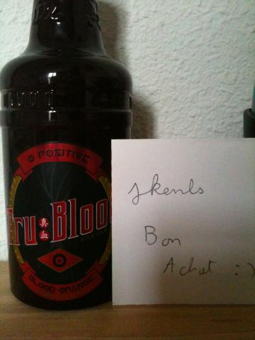 Bouteille true blood O+ collector !